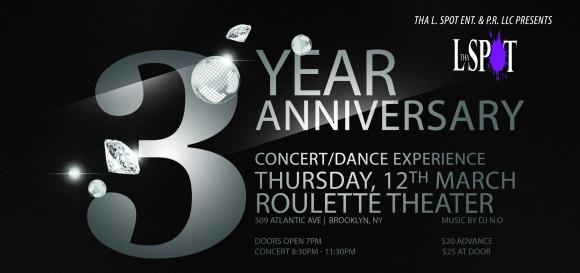 Tha L. Spot 3rd Year Anniversary Flyer