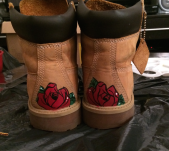 Customized Timberland boots done by Roodbenson Pascal