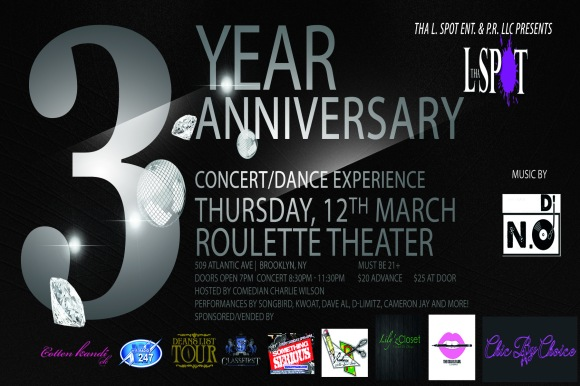Tha L. Spot 3rd Year Anniversary Final Flyer